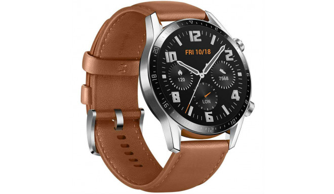 Huawei Watch GT 2 46 мм, коричневая кожа