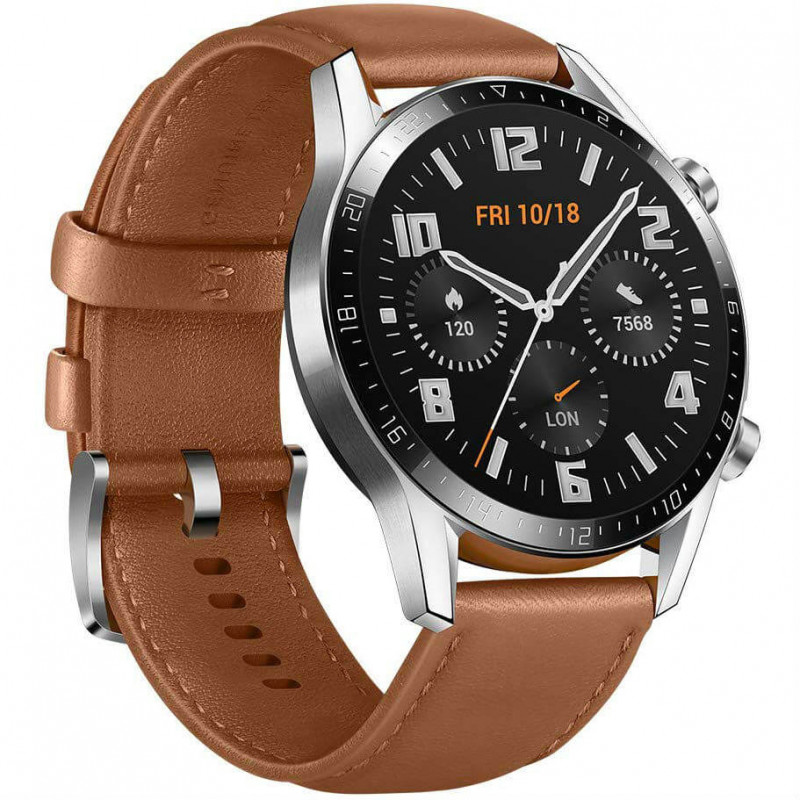 Huawei Watch GT 2 46mm, pruun nahk
