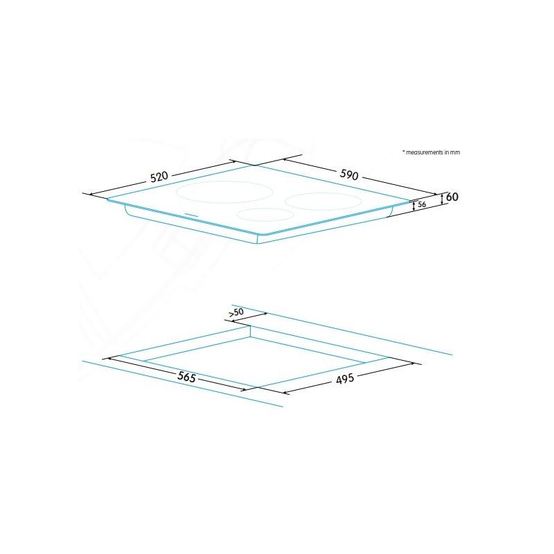 Edesa integreeritav induktsioonpliidiplaat EIM-6330 A
