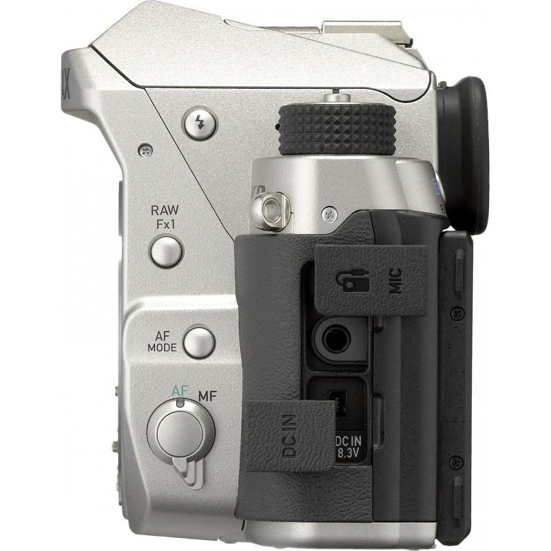 Pentax KP + DA 50mm f/1.8, hõbedane