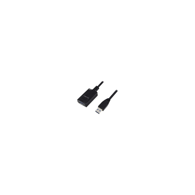 Black Logilink 5m USB 3.0 Repeater Cable