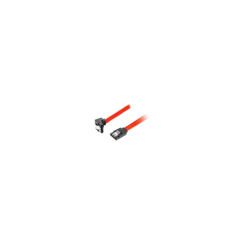 LANBERG CA-SASA-13CU-0070-R Lanberg cable SATA DATA II (6GB/S) F/F 70cm; METAL CLIPS ANGLED RED