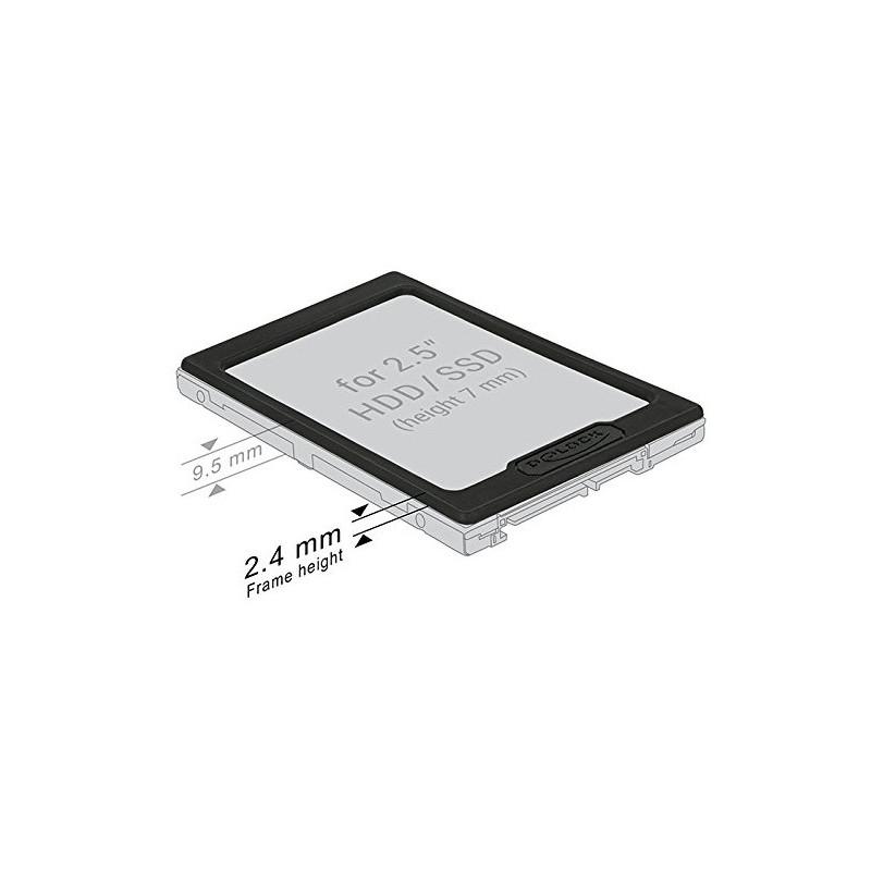 """Delock kinnitusraam 2.5"""" HDD/SSD 7-9.5mm"""