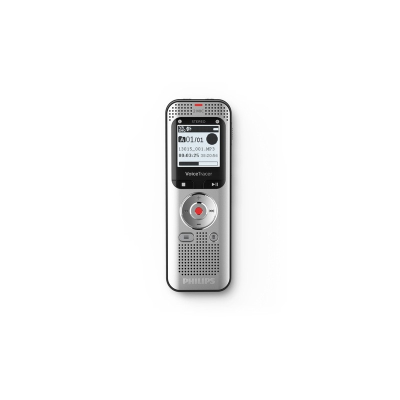 AUDIO RECORDER PHILIPS DVT2000 8GB USB (SILVER-BLACK)