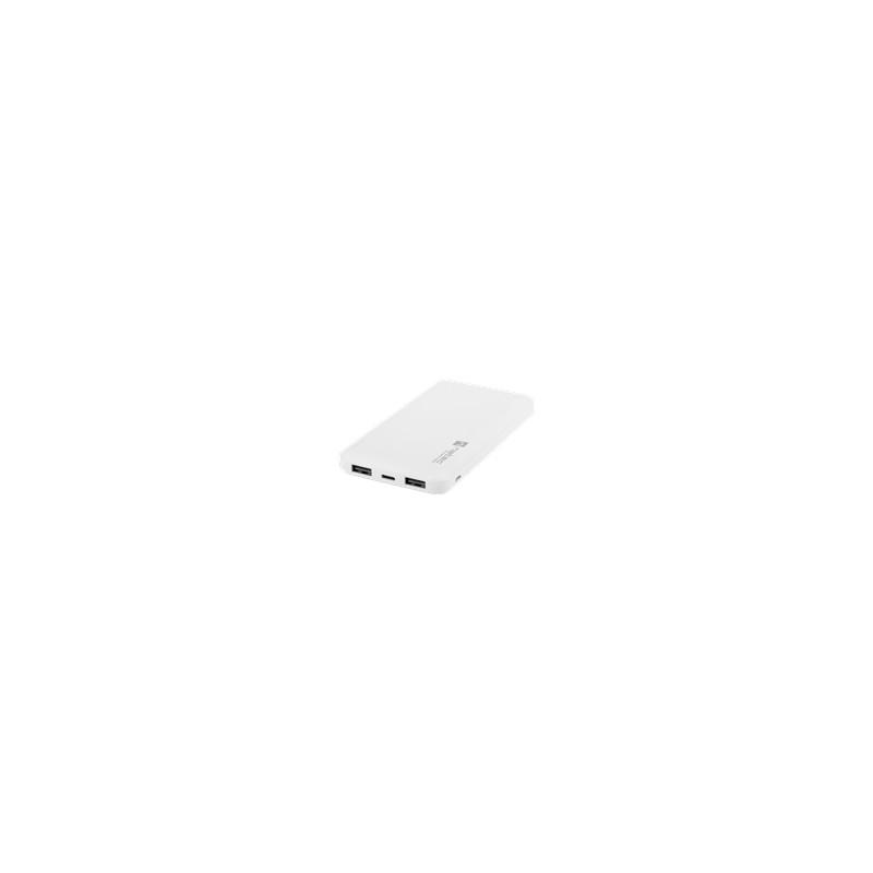 Natec akupank EM Trevi Slim 10000mAh 2xUSB/USB-C, valge (NPB-1539)