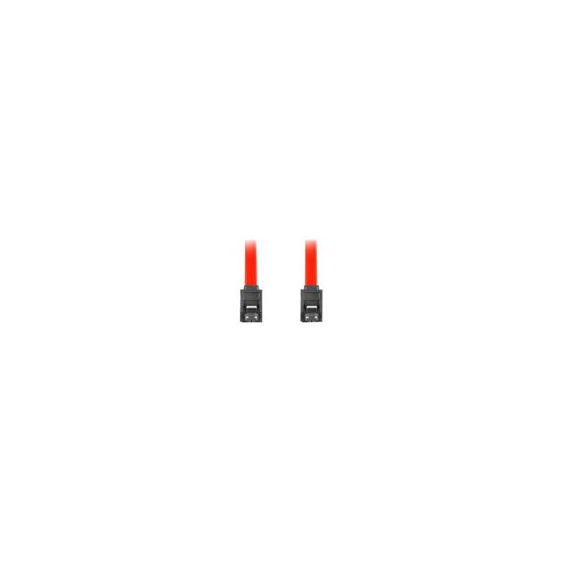 """LANBERG CA-SASA-14CU-0070-R Lanberg cable SATA DATA II (6GB/S) F/F 70cm; METAL CLIPS RED"""