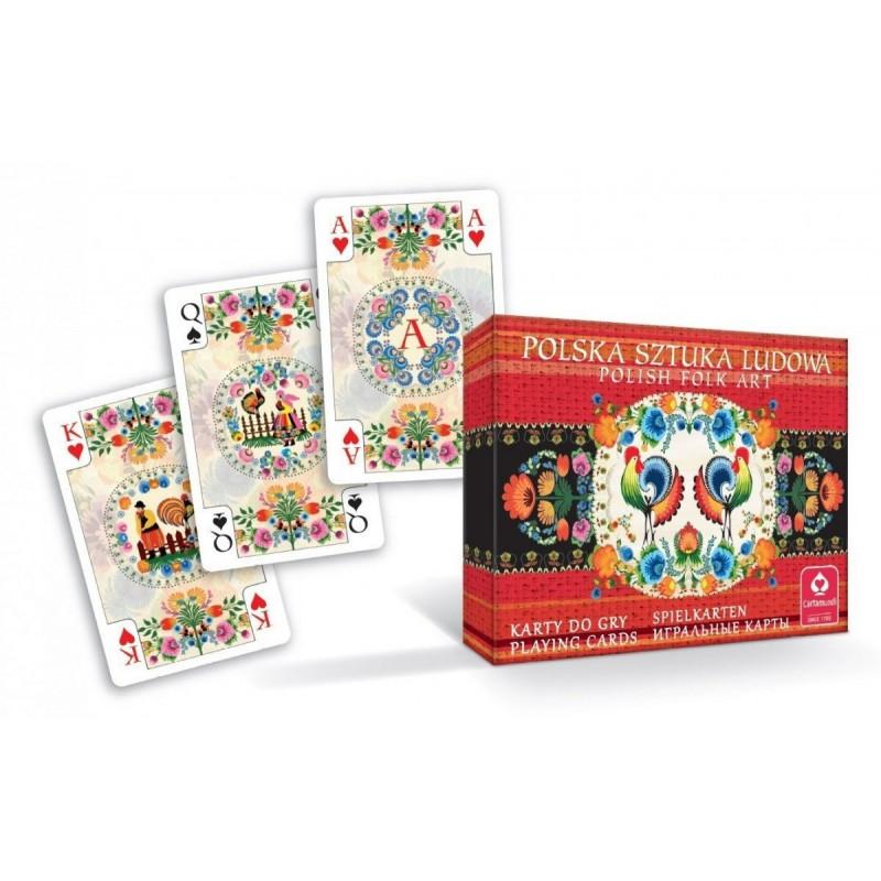 Card Polish Folk Art Double