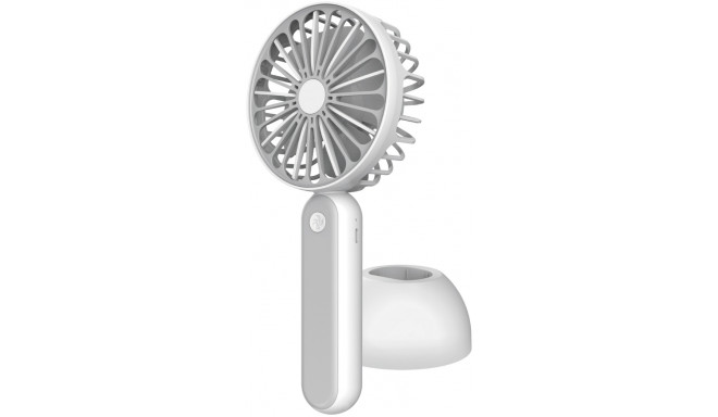 Platinet rechargeable fan 1200mAh, white/grey (45246)