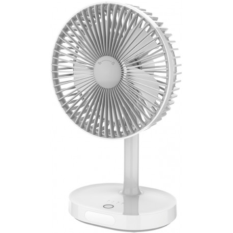 Platinet ventilaator akuga 3000mAh, valge/hall (45242)