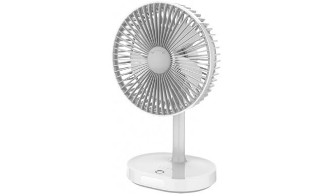 Platinet вентилятор с аккумулятором 3000mAh, белый/серый (45242)