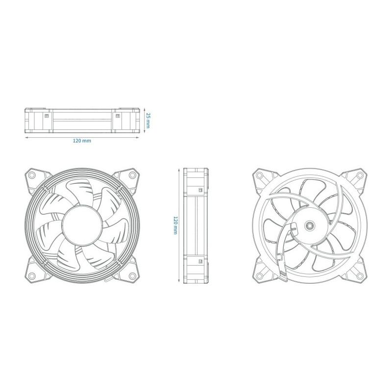 ALSEYE Halo 3.0 120x120x25 mm case fan(black)