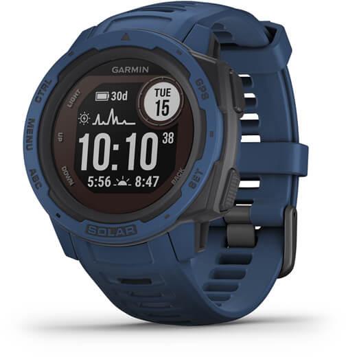 Garmin Instinct Solar GPS, tidal blue