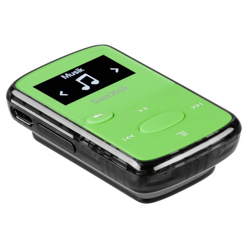 SanDisk mp3-mängija Clip Jam 8GB, roheline (SDMX26-008G-G46G)
