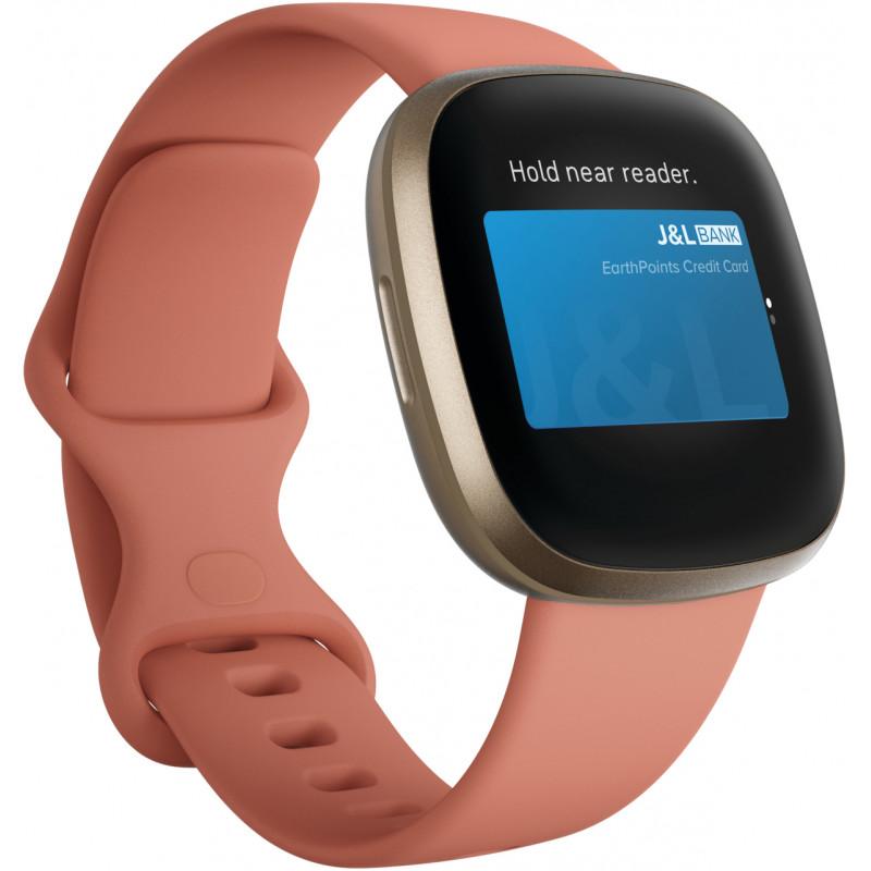 Fitbit Versa 3, pink clay/soft gold aluminium