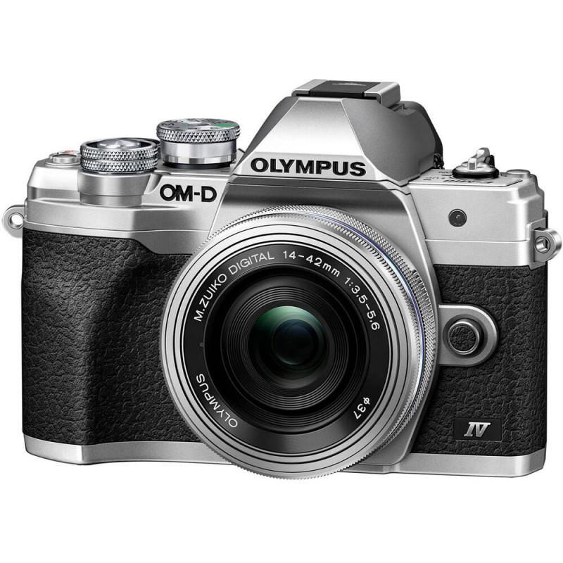 Olympus OM-D E-M10 Mark IV + 14-42mm EZ Kit, silver