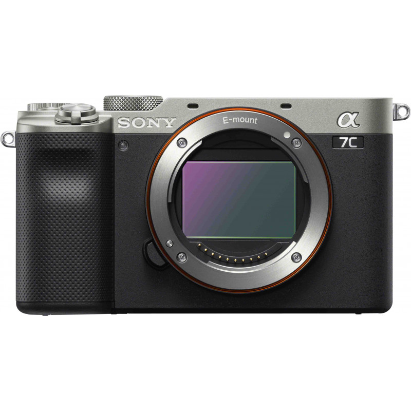 Sony a7C kere, hõbedane