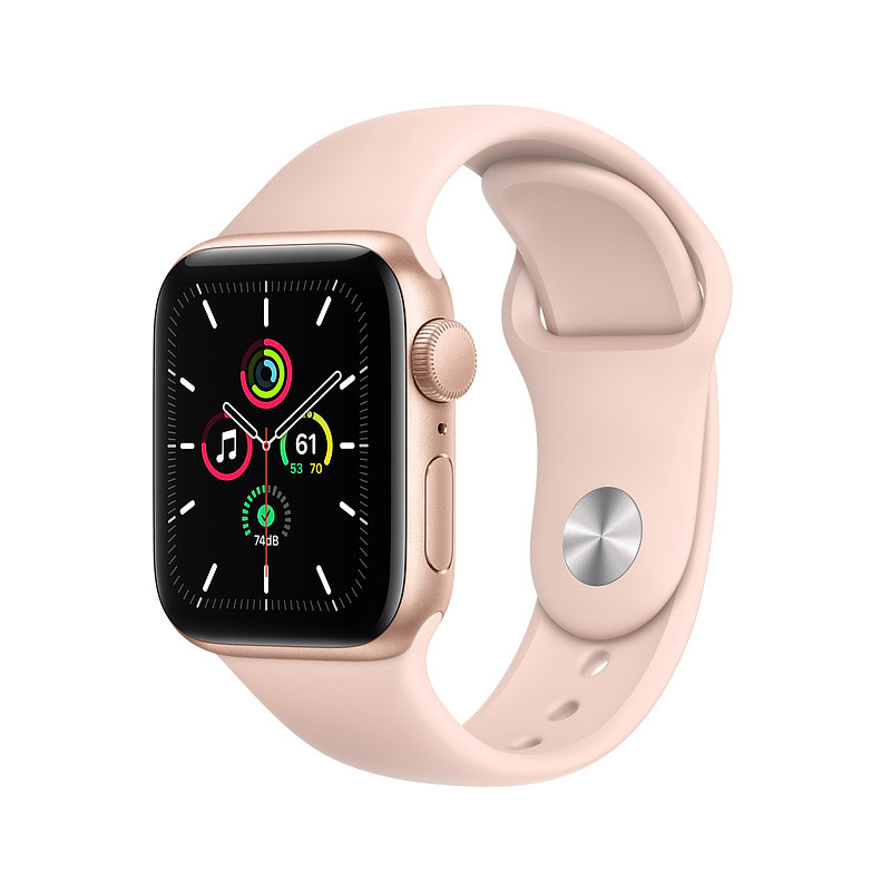 Apple Watch SE GPS 40mm Sport Band, gold/pink sand