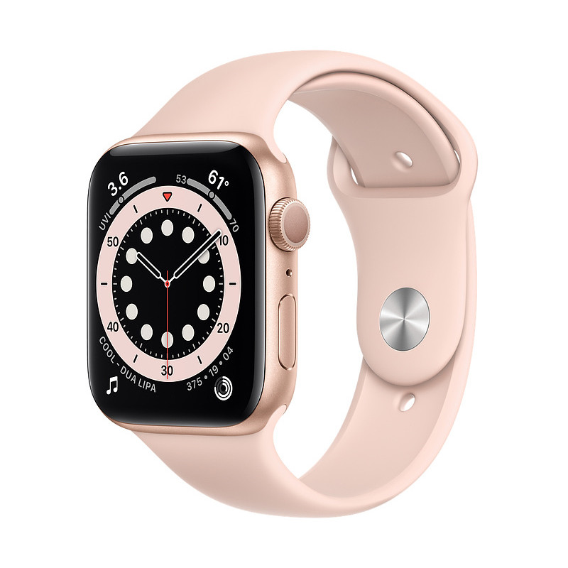 Apple Watch 6 GPS 44mm Sport Band, gold/pink sand