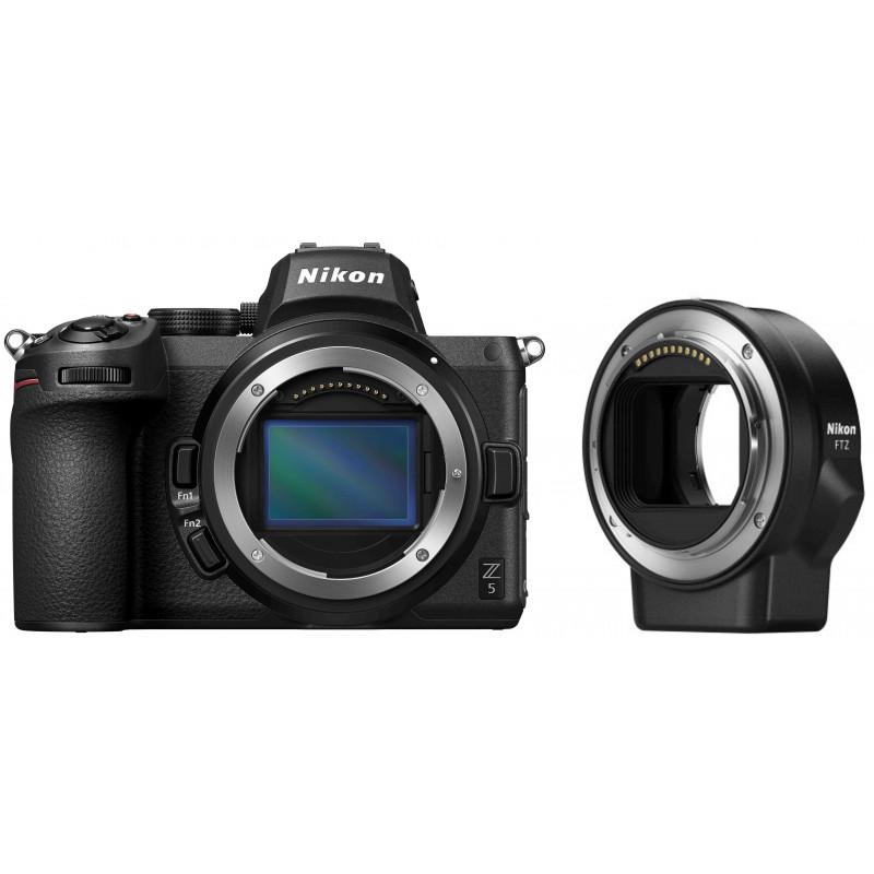 Nikon Z5 kere + objektiivi adaper FTZ
