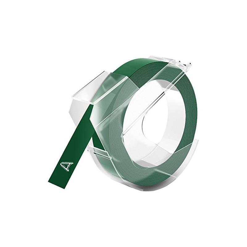 Dymo 3D etikett 9mm 3m Glossy, roheline