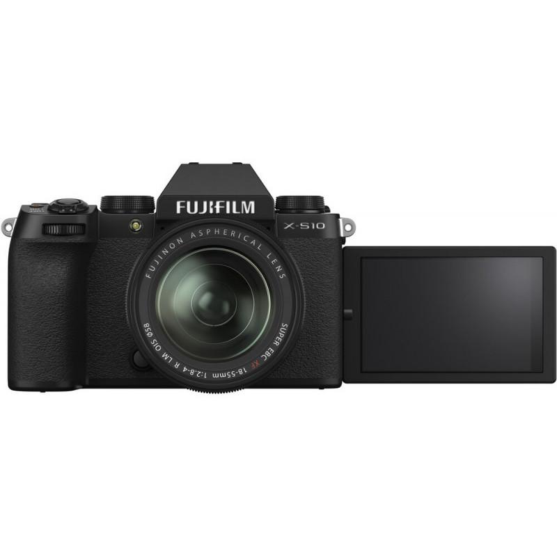 Fujifilm X-S10 + 18-55mm Kit, black