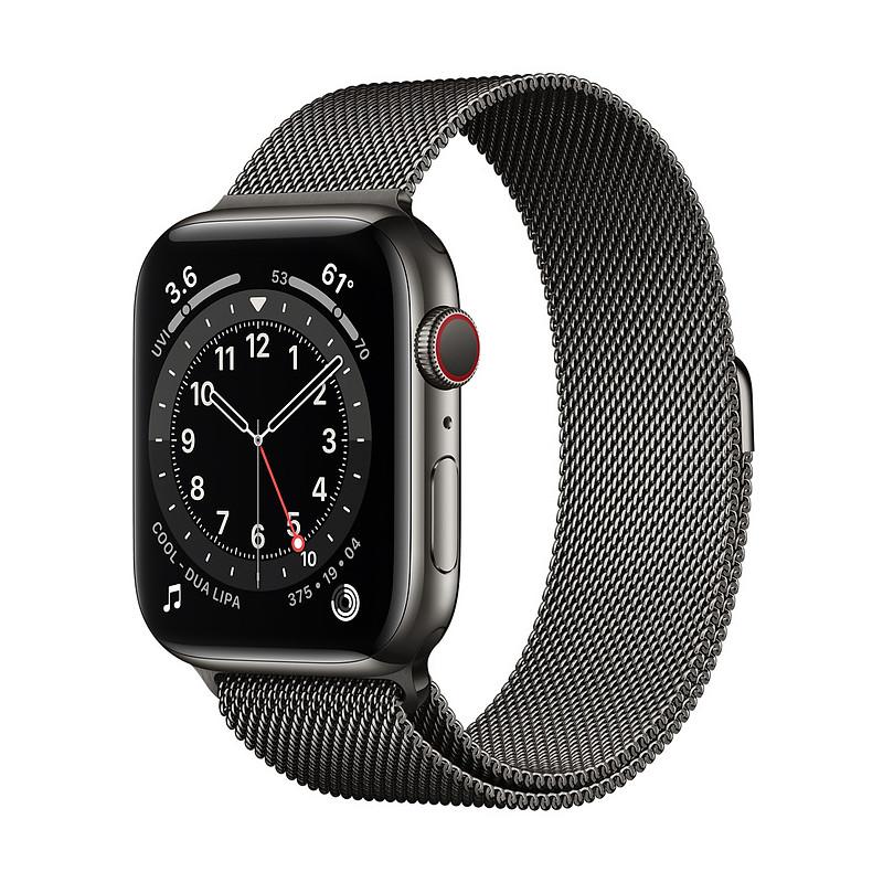 Apple Watch 6 GPS + Cellular 44mm Stainless Steel Milanese Loop, graphite (M09J3EL/A)