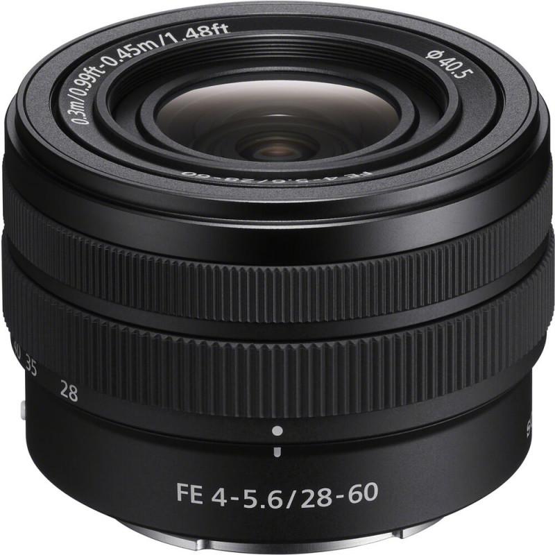 Sony FE 28-60mm f/4-5.6 objektiiv, must