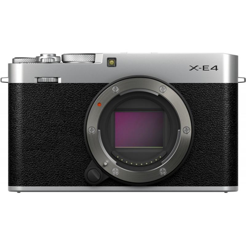 Fujifilm X-E4 kere, hõbedane