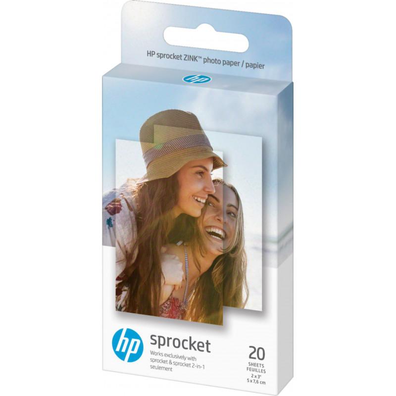 HP fotopaber Sprocket Zink 5x7,6cm 20 lehte
