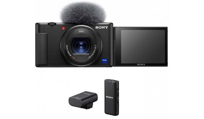 Sony ZV-1 + Sony juhtmevaba mikrofon