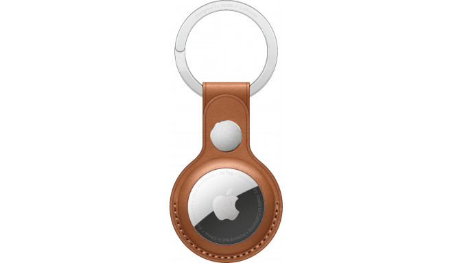 Apple AirTag чехол Leather Key Ring, saddle brown