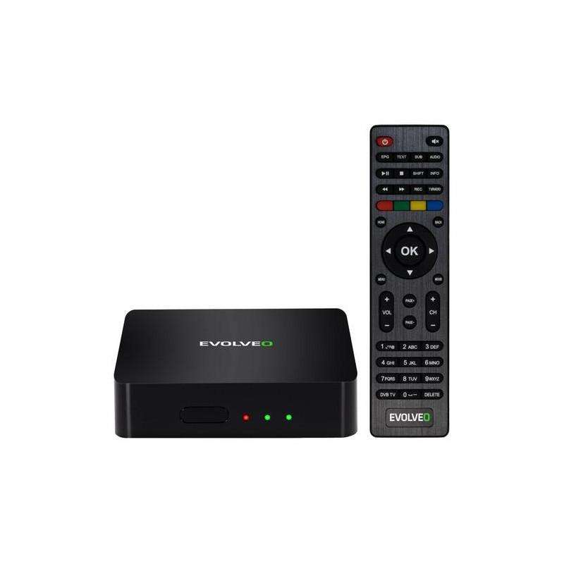 Evolveo Hybrid Box T2 Black 4K Ultra HD 16 GB Wi-Fi Ethernet LAN