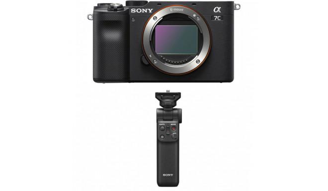 Sony a7C + Sony handle-tripod, black