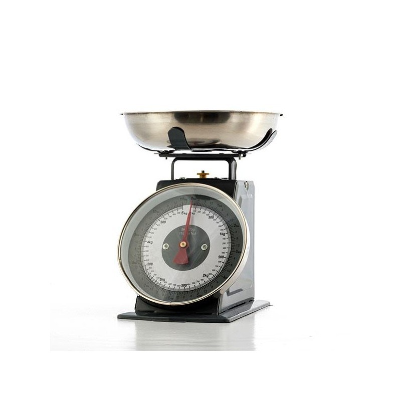 Retro Ogue Kitchen Scales With Bowl Grey