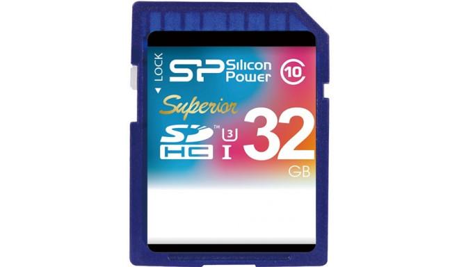Silicon Power mälukaart SDHC 32GB Superior UHS-I U3 (katkine pakend)