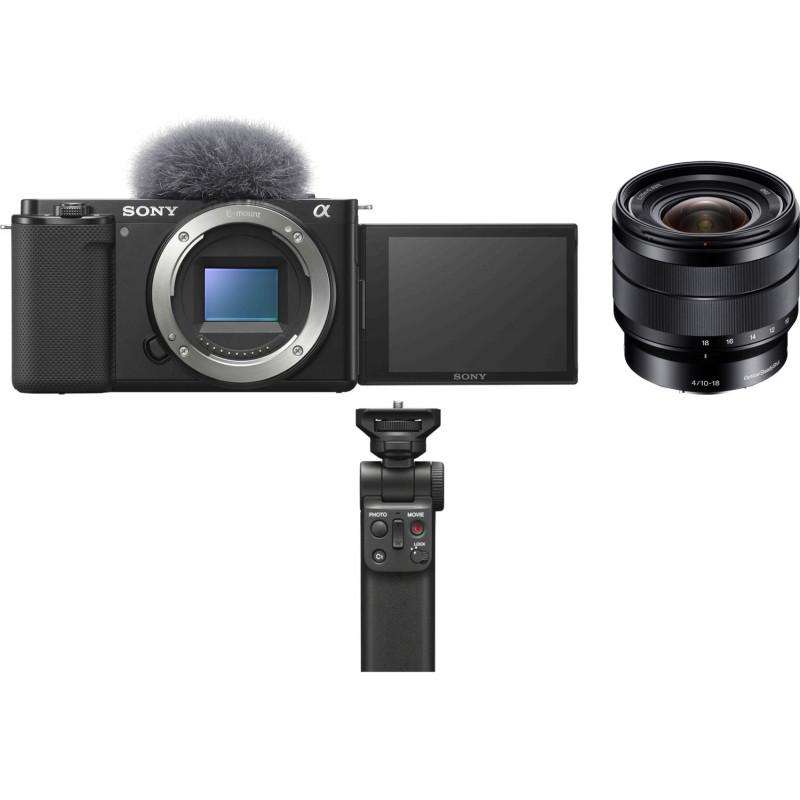 Sony ZV-E10 + 10-18mm f/4.0 + käepide