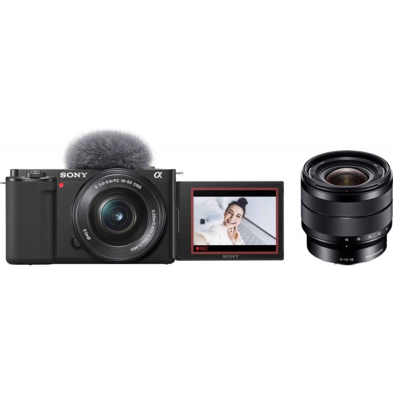 Sony ZV-E10 + 16-50mm  + 10-18mm f/4.0