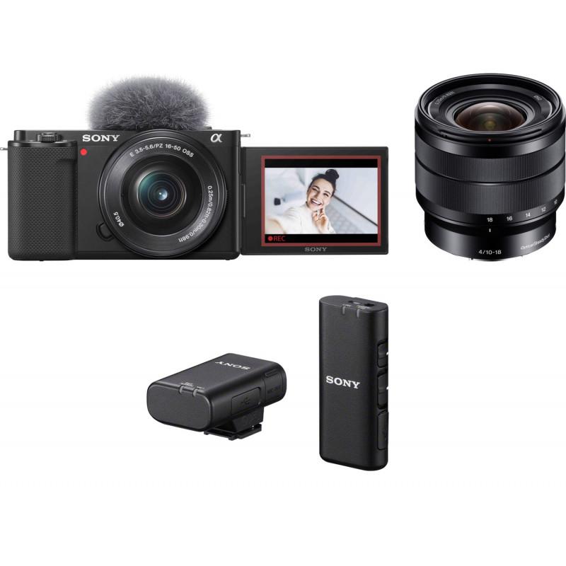 Sony ZV-E10 + 16-50mm + 10-18mm + juhtmevaba mikrofon