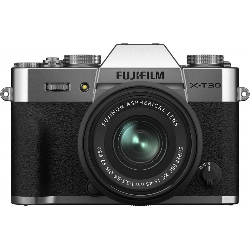 Fujifilm X-T30 II + 15-45mm Kit, hõbedane