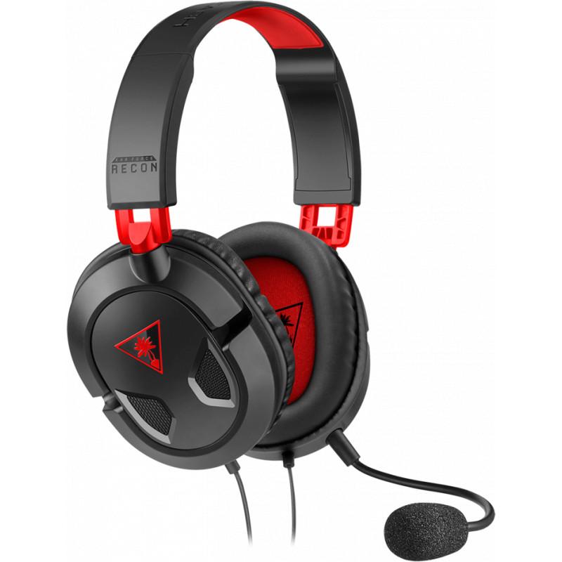 Turtle Beach kõrvaklapid + mikrofon Recon 50, must/punane