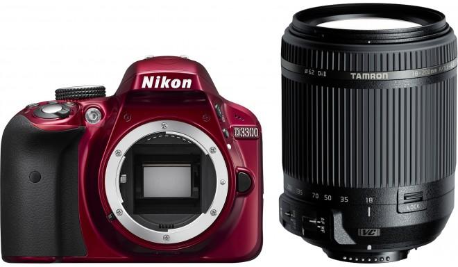 Nikon D3300 + Tamron 18-200мм VC, красный