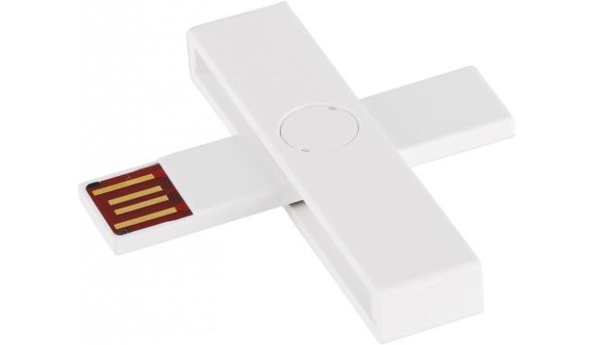 +ID ID-kaardi lugeja USB Blister, valge