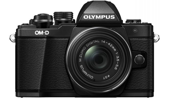 Olympus OM-D E-M10 Mark II + 14-42mm II R Kit, melns