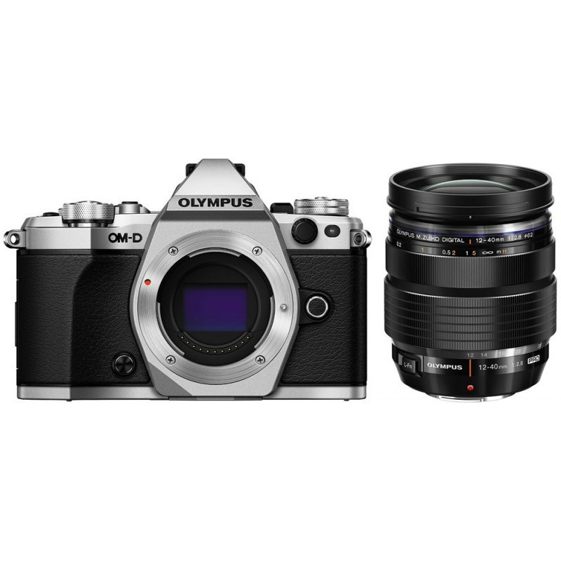 Olympus OM-D E-M5 Mark II + 12-40mm Pro Kit, hõbedane