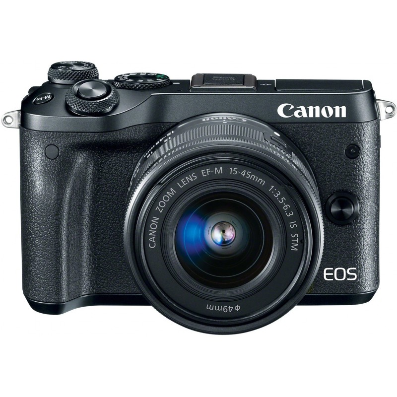 Canon EOS M6 + EF-M 15-45mm + 55-200mm IS STM, black