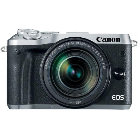 Canon EOS M6 + EF-M 18-150 мм IS STM, серебричтый