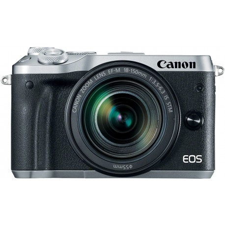 Canon EOS M6 + EF-M 18-150mm IS STM, sudrabots