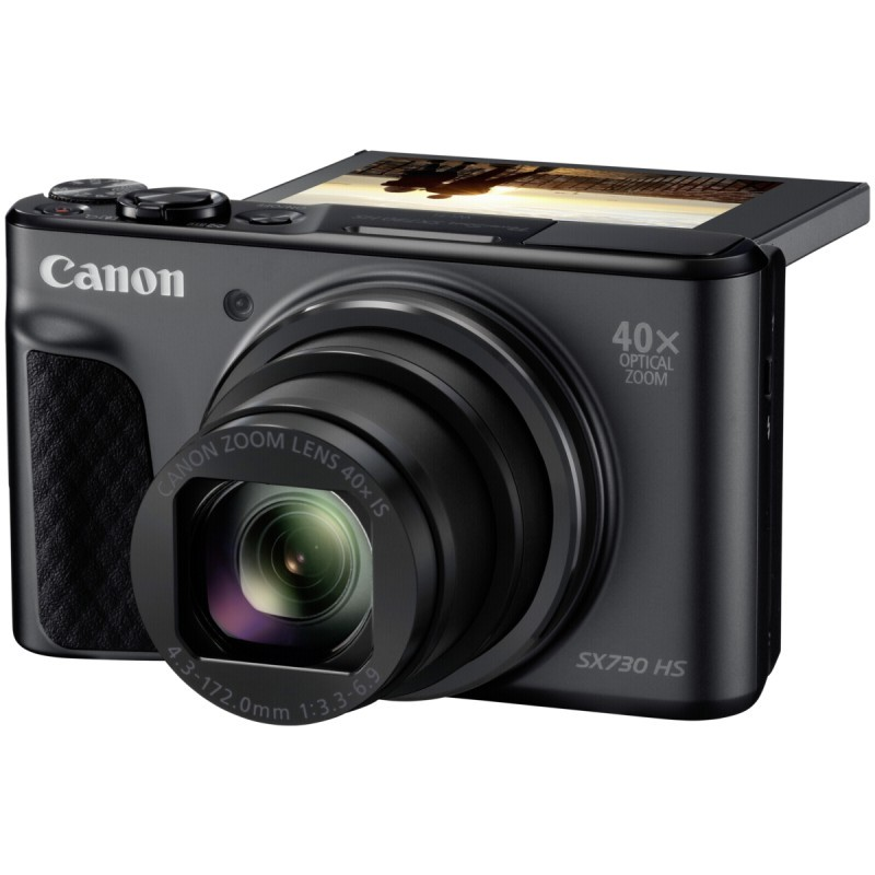 canon powershot sx730 hs black compact cameras photopoint. Black Bedroom Furniture Sets. Home Design Ideas