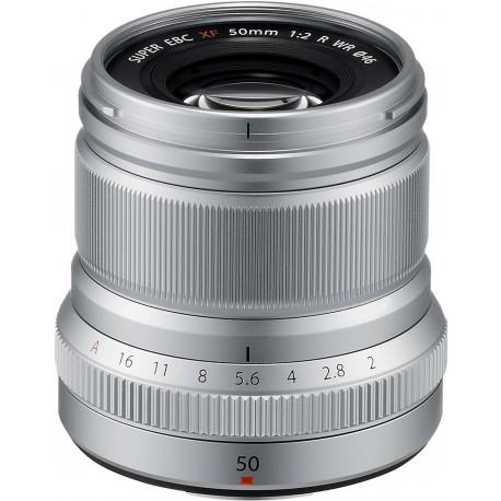 Fujinon XF 50 мм f/2 R WR объектив, серебристый
