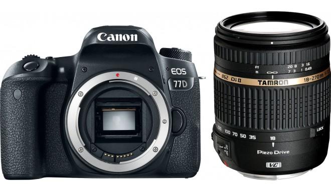 Canon EOS 77D + Tamron 18-270 мм VC PZD